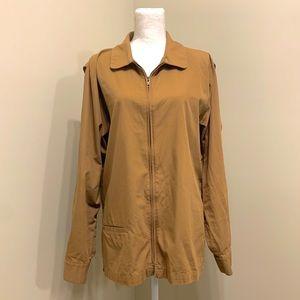 Men's Patagonia Brown Khaki Full Zip Up Jacket M